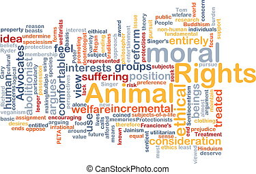 Animal rights wordcloud concept illustration - Background...