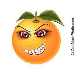 Orange eye teeth - Orange with fervent eyes and crooked...