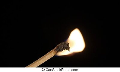 Burning matchstick. Slow-mo - HD - Burning matchstick....