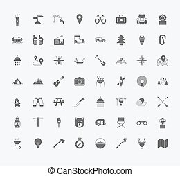 Camping icons - Set of Camping icons on white background....