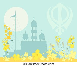 punjabi magic - a vector illustration in eps 10 format of an...