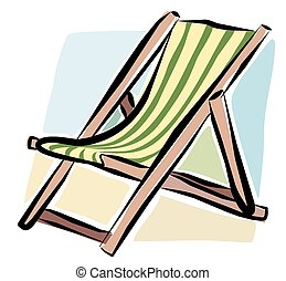 Sketchy deckchair - A sketchy illustration of a typical...