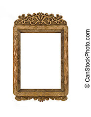 Carved wooden Frame for picture useful as icon case over...