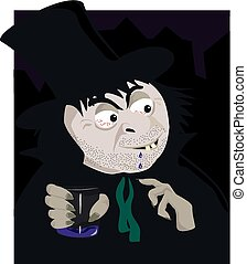 Mr Hyde - A cartoon image of an evil looking mr hyde from...