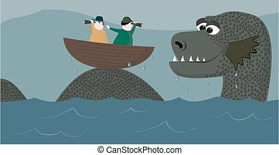 Nessie hunters - A couple of nessie hunters are about to get...