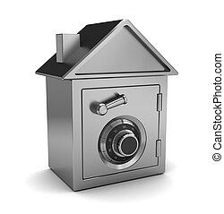 safe house - 3d illustration of safe house concept, over...