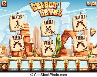 Example of level selection screen for the computer game Wild...