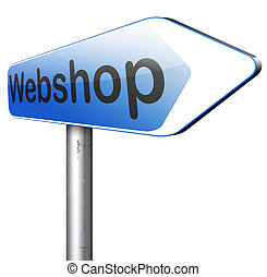 webshop - online shopping at internet webshop or store
