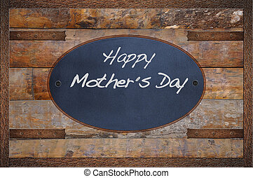 Mother day. - Bulletin board made in wood with word Happy...