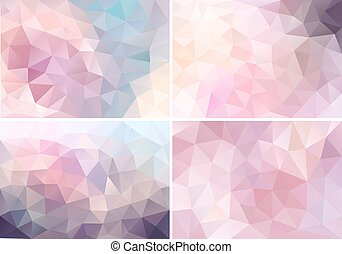 pastel pink low poly backgrounds, v - abstract pastel pink...