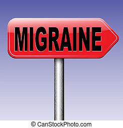 migraine acute or chronic headache need for painkiller or...