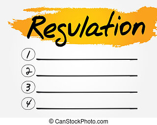 Regulation Blank List, vector concept background