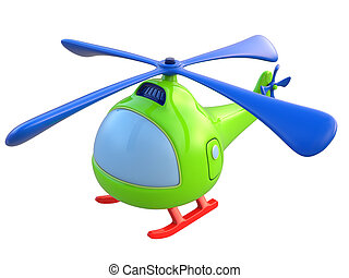 Abstract toy helicopter isolated on white background. 3d render.