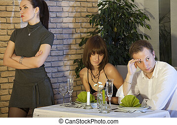 jealousy scene in restaurant