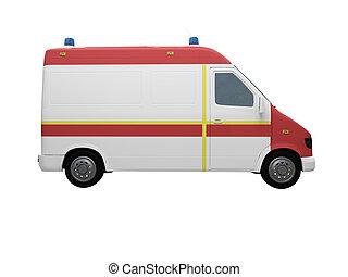 AmbulanceEU isolated side view