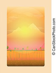 mountain two - graphic vector format of the mountain when...