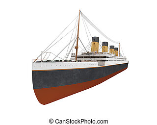 Big ship liner front view