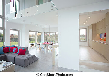 Front room - Big modern front room connected with dining...
