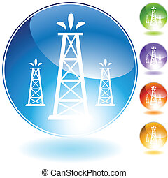 oil well crystal icon  isolated on a white background.
