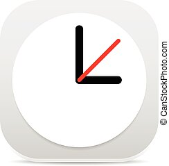 Clock Graphics, Clock Icon. Editable clock with hour, minute and second pointers. Time, schedule, fastness concepts      Clock Graphics, Clock Icon. Editable clock with hour, minute and second pointe