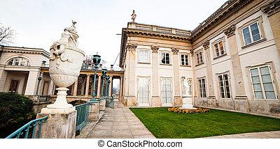 Lazienki Krolewskie - The Lazienki palace in Lazienki Park,...