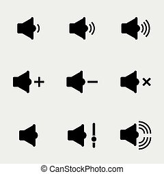 Sound and speaker icons