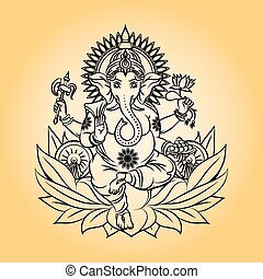 Lord ganesha indian god with elephant head. Hinduism and...