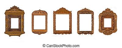 Collage of carved Frames