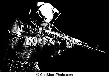russian special forces - Hard light image of russian special...