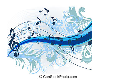 Floral music - floral music theme for design use. Vector...