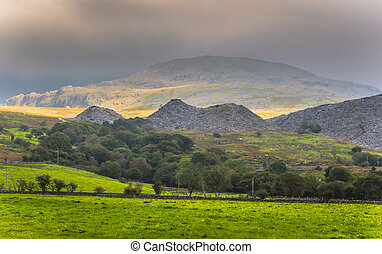 Rain clouds over Snowdonia - Rain clouds moving in over the...