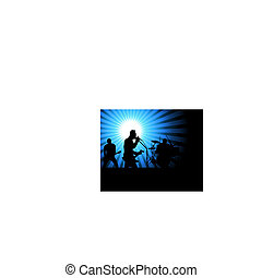 rock group - Rock group singers theme. Vector illustration...
