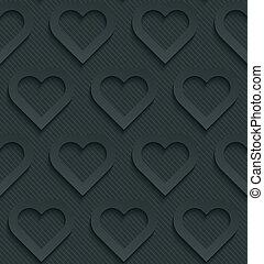 Dark perforated paper.