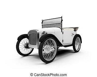 Old fashioned retro car