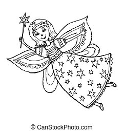 fairy with a magic wand