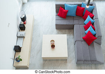 View of family room - View from the top of up-to-date luxury...