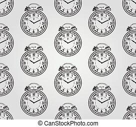 Armbanduhr gezeichnet  Vektoren von muster, seamless, uhren, hand, uhren, gezeichnet ...