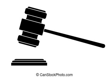 Judge gavel or auction hammer
