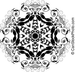 Abstract motif - Black and white abstract motif like a...