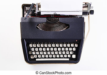 Old Dutch type writer with paper sheet