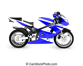 isolated motorcycle side view - isolated motorcycle on a...