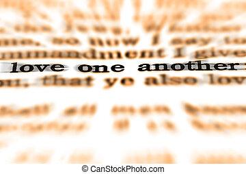 scripture, Citação, Amor, um, outro,