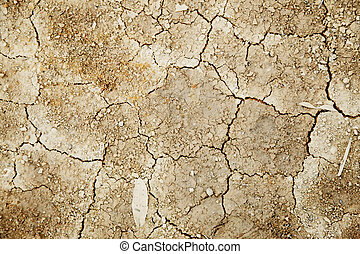 Dry land - Texture of dry and infertile land Abstract...