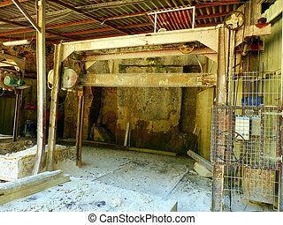 Stone Saw Mill - Old stone saw mill at a limestone quarry