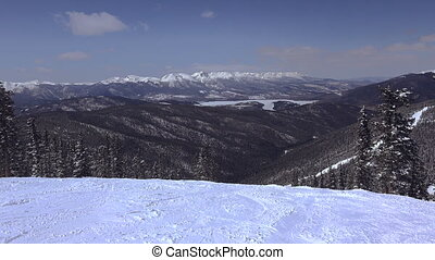 Long Distance Ski Slopes Mountain - A great look at a fresh...