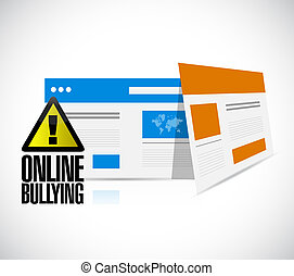 online bullying web browser warning concept illustration...