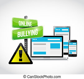 online bullying browser warning concept illustration design