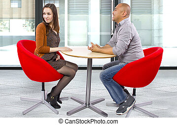 Rude Date - rude interracial couple on a bad date