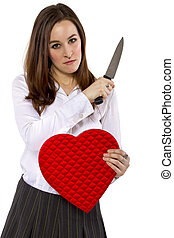 Scorned Lover - broken hearted ex-girlfriend with a heart...