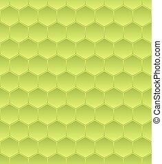 Hexagonal mosaic - Hexagonal green mosaic seamless...